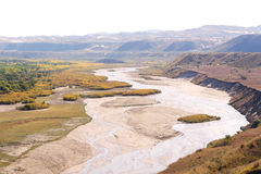 Panorama of  river xilamulun in inner mongolia Royalty Free Stock Images