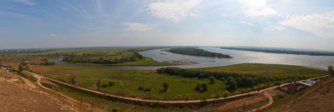 Panorama of the rivers Royalty Free Stock Image