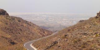 Panorama Road Canarian mountain , Spain Stock Photography