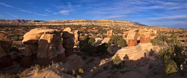 Devils Garden. Panorama of rock formation in Devils Garden, Utah Stock Photography