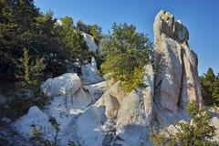 Panorama of Rock phenomenon Stone Wedding near town of Kardzhali, Bulgaria Royalty Free Stock Photo