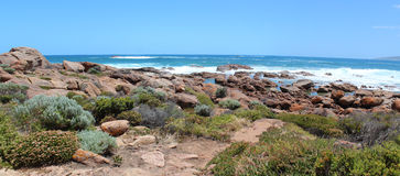 Panorama  of rocks Port Smith west Australia Stock Photos