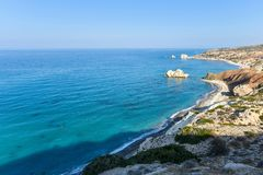 Panorama of rocky coast Stock Image