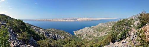 Panorama of a rocky coastline in Croatia Royalty Free Stock Photos