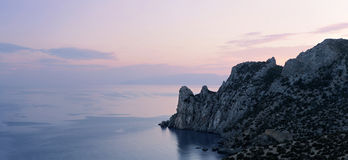 Panorama of rocky coastline of Stock Photos
