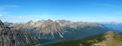 Panorama of rocky mountains stock photo