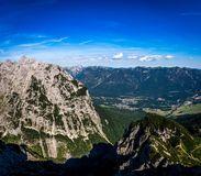 Panorama of the rocky mountains in the Alps, Germany royalty free stock photos
