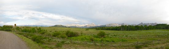 Panorama of Rocky Mountains Royalty Free Stock Photos