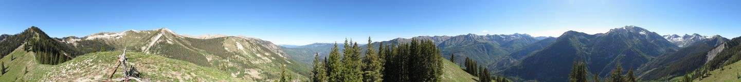Panorama of Rocky Mountains Stock Images