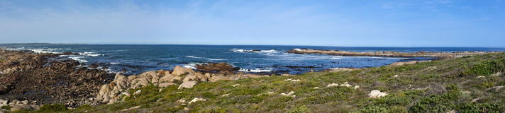 Panorama of a rocky shore Royalty Free Stock Images