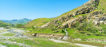 Panorama of the rocky valley Royalty Free Stock Image