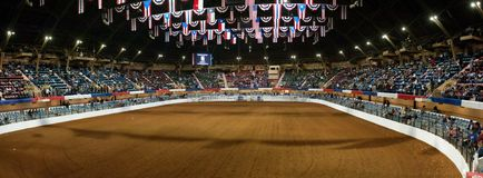 panorama- rodeo för arena Royaltyfri Fotografi