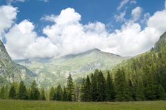 panorama rodzaju góry Obrazy Royalty Free