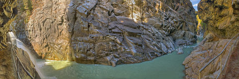Panorama: Roffla canyon Switzerland Stock Photo