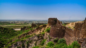 Panorama of Rohtas fortress in Punjab Pakistan. Panorama of Rohtas fortress in Punjab, Pakistan Royalty Free Stock Photo