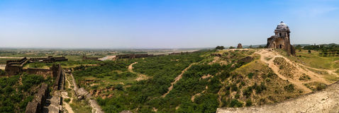 Panorama of Rohtas fortress in Punjab Pakistan Royalty Free Stock Photo