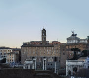 Panorama roma sunset Royalty Free Stock Photography