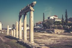 Panorama of the Roman Agora in summer, Athens, Greece Stock Image