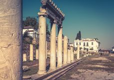 Panorama of the Roman Agora in summer, Athens, Greece Stock Photography