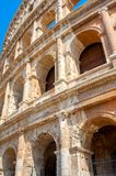 Panorama of the Roman Coliseum, a majestic historical monument. Italy. Europe royalty free stock photos