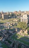 Panorama of the Roman Forum royalty free stock photos