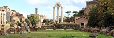 Panorama romano del foro Imagenes de archivo