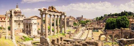 Panorama romano della tribuna Fotografie Stock Libere da Diritti