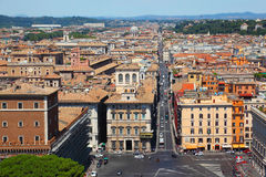 Panorama of Rome. From Altar of Fatherland at summer day in Rome, Italy Stock Photography