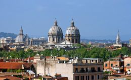 Panorama of Rome Royalty Free Stock Photo