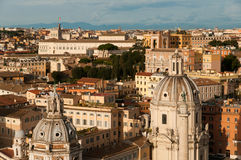 Panorama of Rome, Italy Stock Image