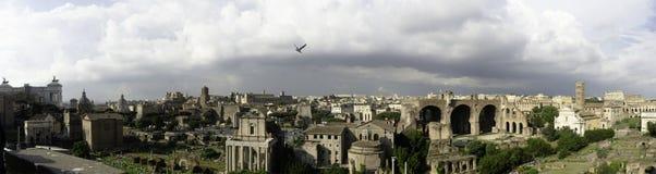 Panorama of Rome, Italy Royalty Free Stock Photo