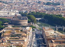 Panorama of Rome, Italy Royalty Free Stock Photography