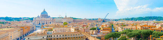 Panorama of Rome, Italy Stock Photography