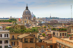 Panorama of Rome, Italy. Panorama of Rome from Spanish steps, Rome, Italy Royalty Free Stock Photography