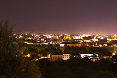 Panorama of Rome at night from Gianicolo Royalty Free Stock Photo