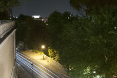 Panorama of Rome at night from Pincio Royalty Free Stock Photos