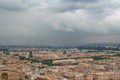 panorama- rome roofs sikt Royaltyfri Fotografi