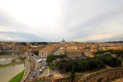 panorama- rome sikt Arkivfoto