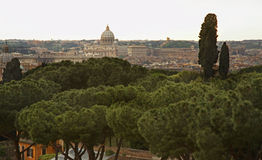 panorama- rome sikt italy Arkivfoto