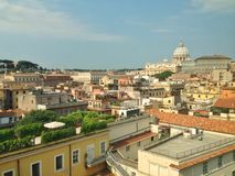 Panorama of Rome with St. Peter Cathedral Stock Photo