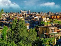 Panorama of Rome  Altar of the Fatherland Stock Photos