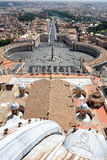 Panorama of Rome from the top of the cathedral in the Vatican Stock Photo