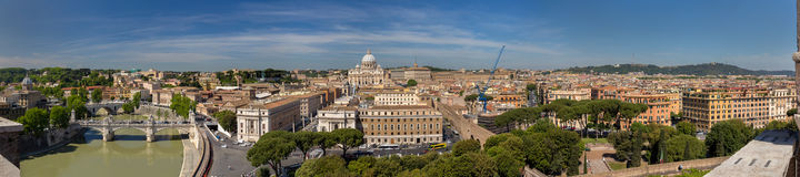 Panorama of Rome and Vatican Royalty Free Stock Photo