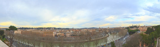 Panorama of Rome, view from the Giardino degli Aranci. Italy Stock Images