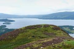 Panorama rond Loch Lomond Stock Foto's