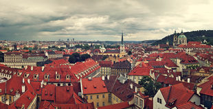 Panorama of rooftops in Prague. Royalty Free Stock Image