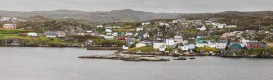 Panorama of Rose Blanche, Newfoundland. St. John`s, Newfoundland and Labrador, Canada royalty free stock image