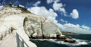 Panorama of Rosh ha nikra cape,Israel Royalty Free Stock Photos
