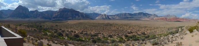 Panorama rosso del canyon della roccia Fotografia Stock