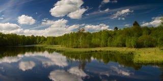 Panorama of Rotes Moor marsh Royalty Free Stock Photo